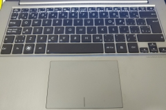 working on a macbook