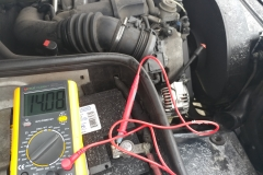 checking battery and alternator voltage