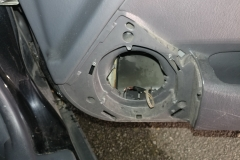 prep passenger side door for new speaker