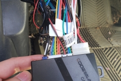 basic key-less entry and car alarm unit installed