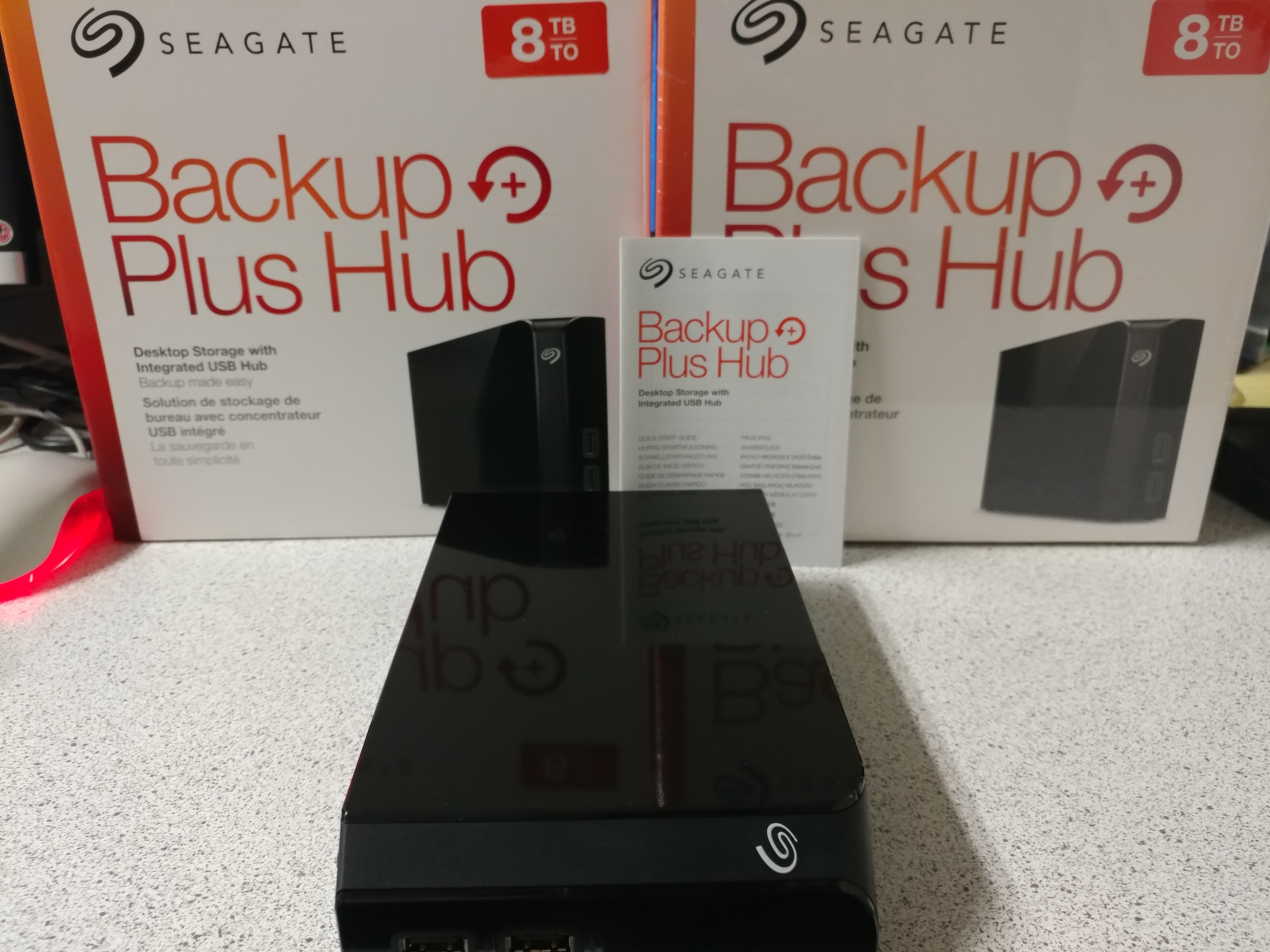 new external hard drives (used for backup)
