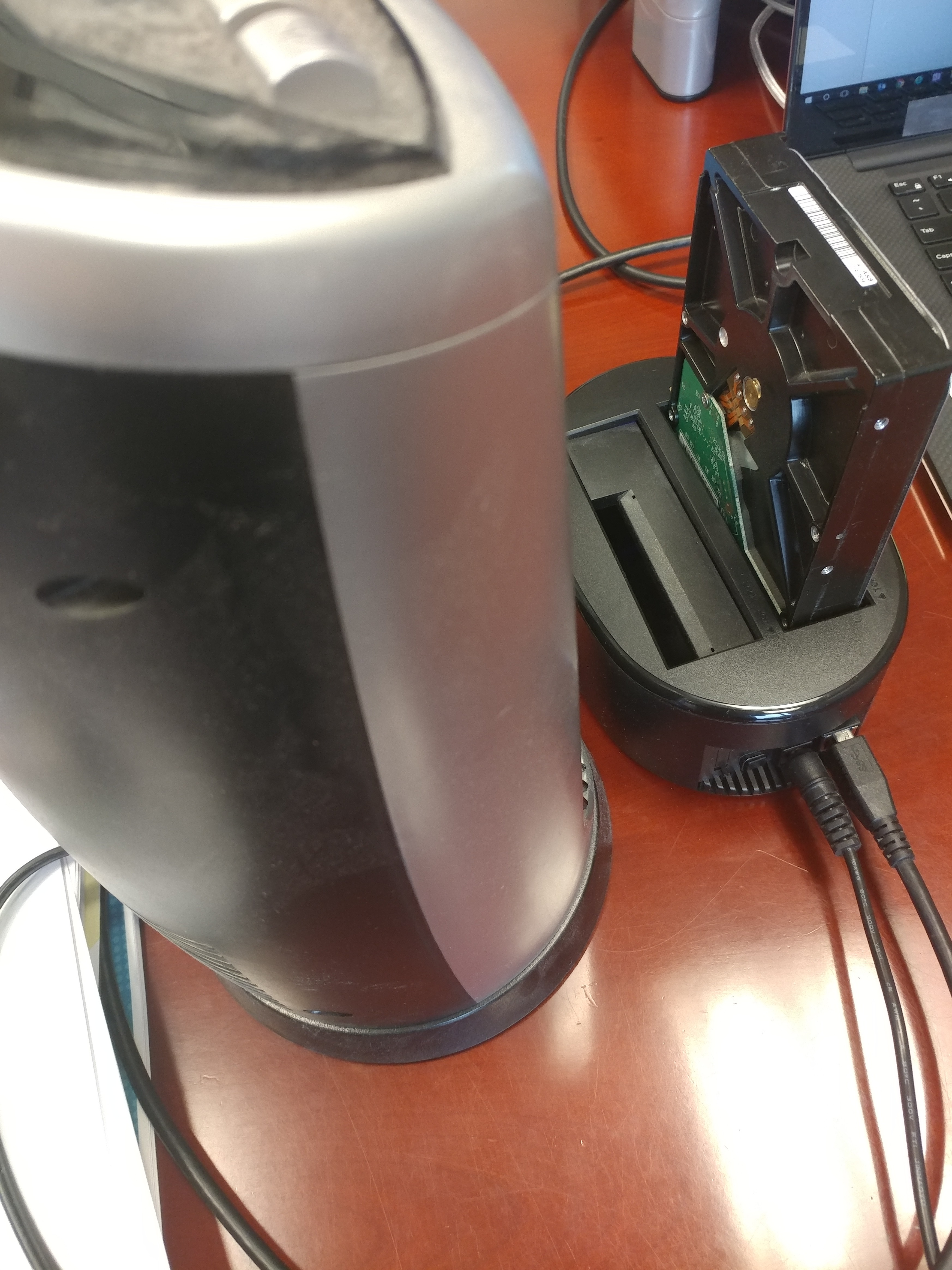 data transfer using hard drive docking station