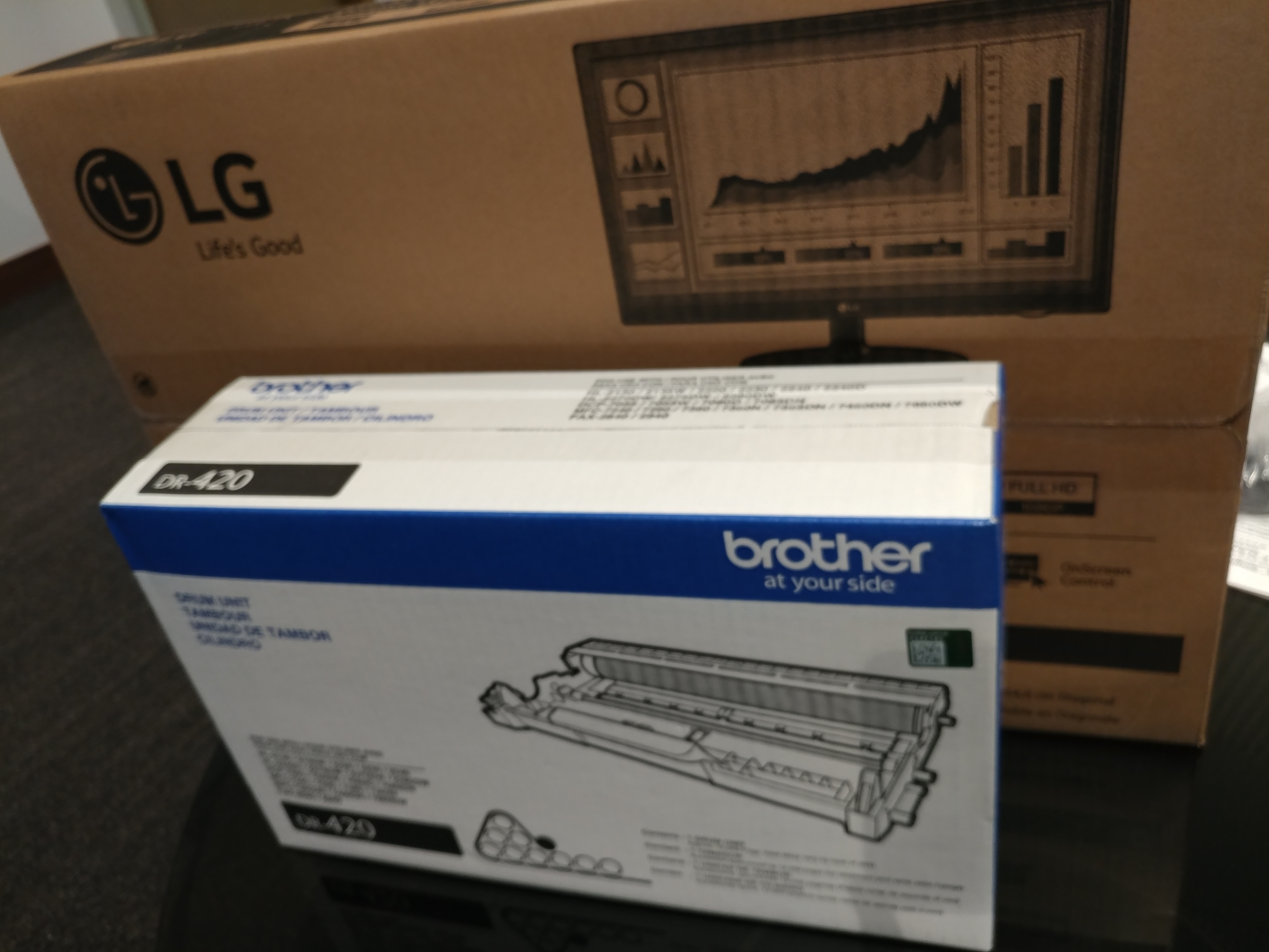 new monitor and replacement brother drum unit