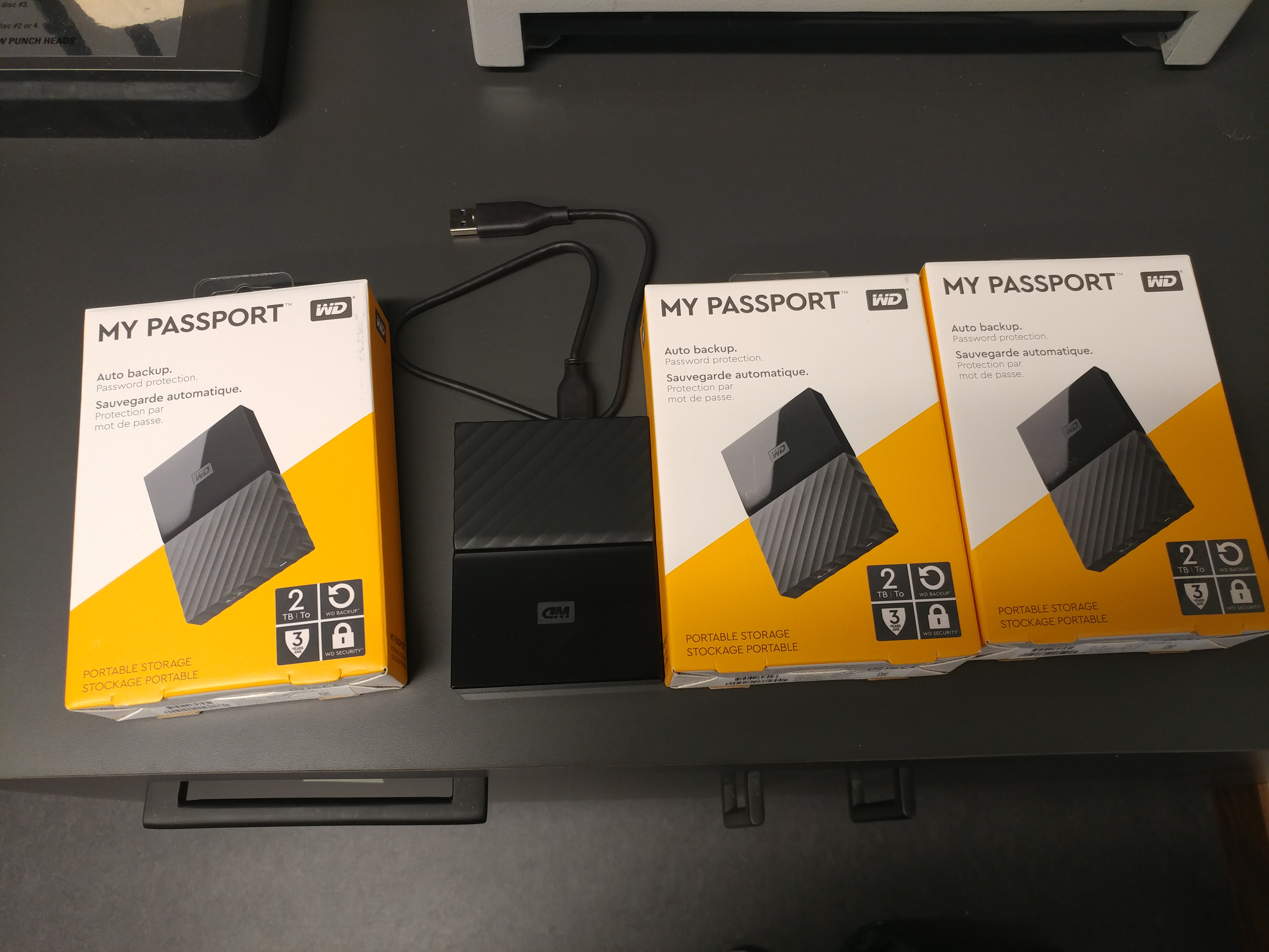 new portable external hard drives (used for backup)