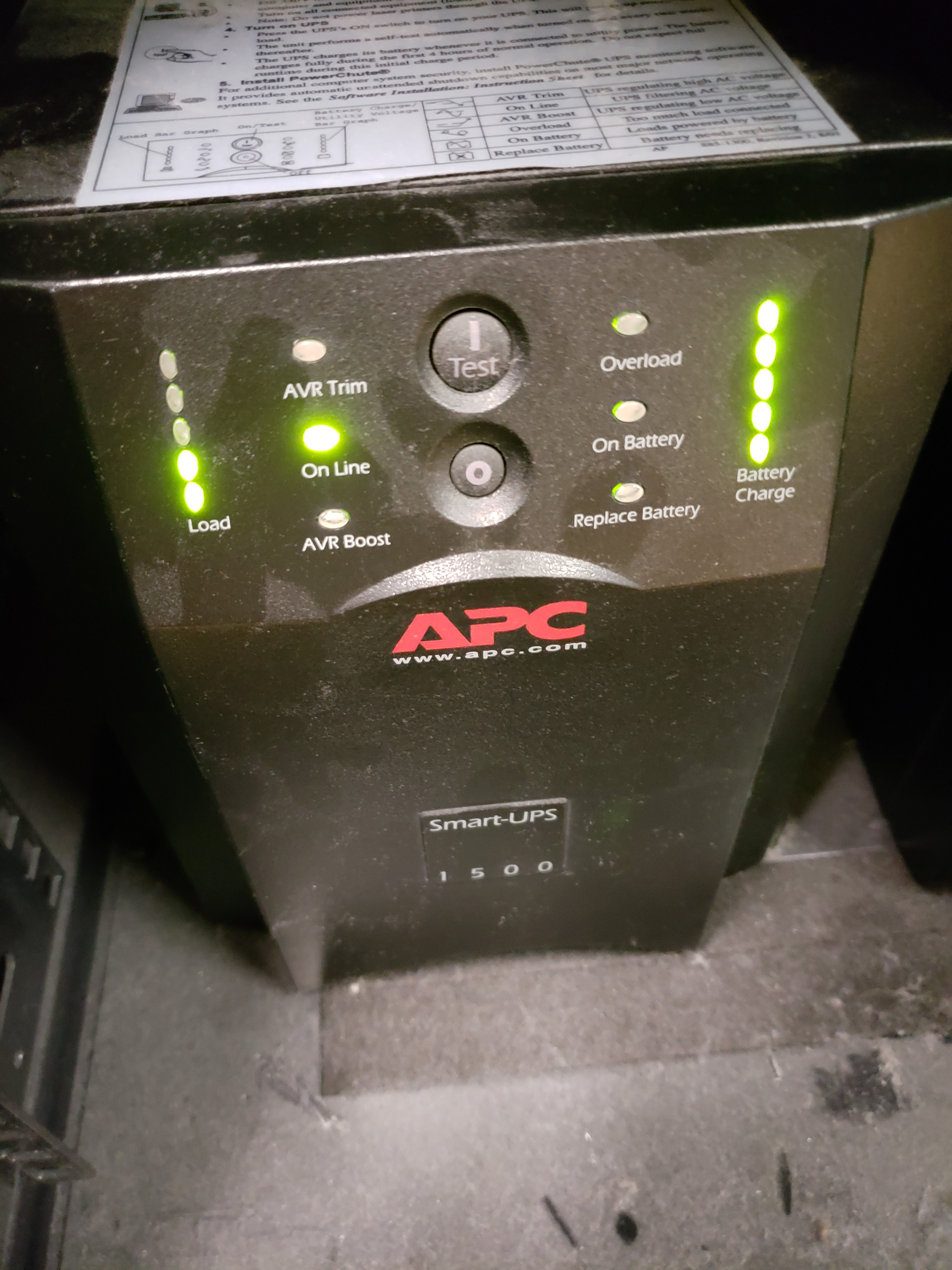 UPS battery replacement (testing after)