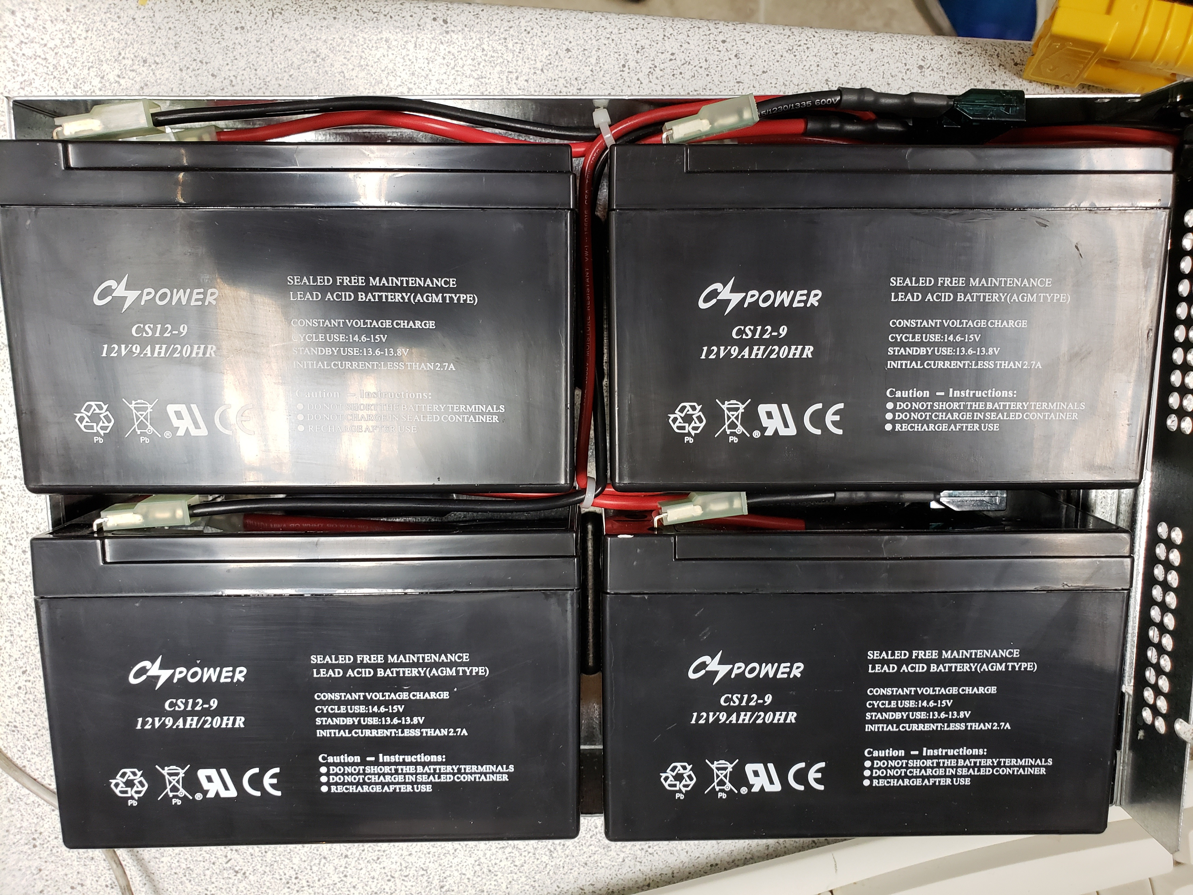 UPS battery replacement (new batteries installed)