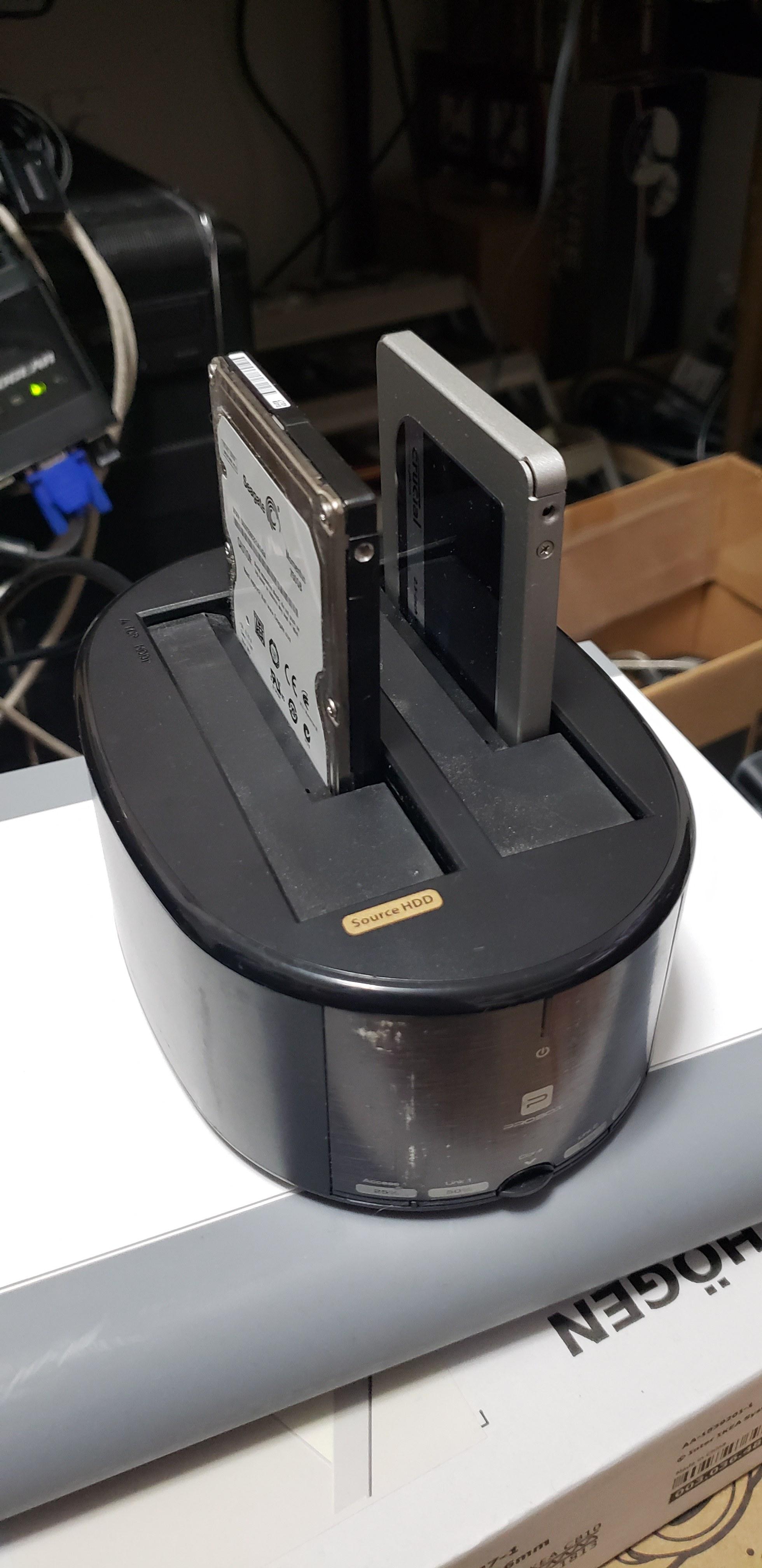 hard drive to SSD cloning using USB docking station