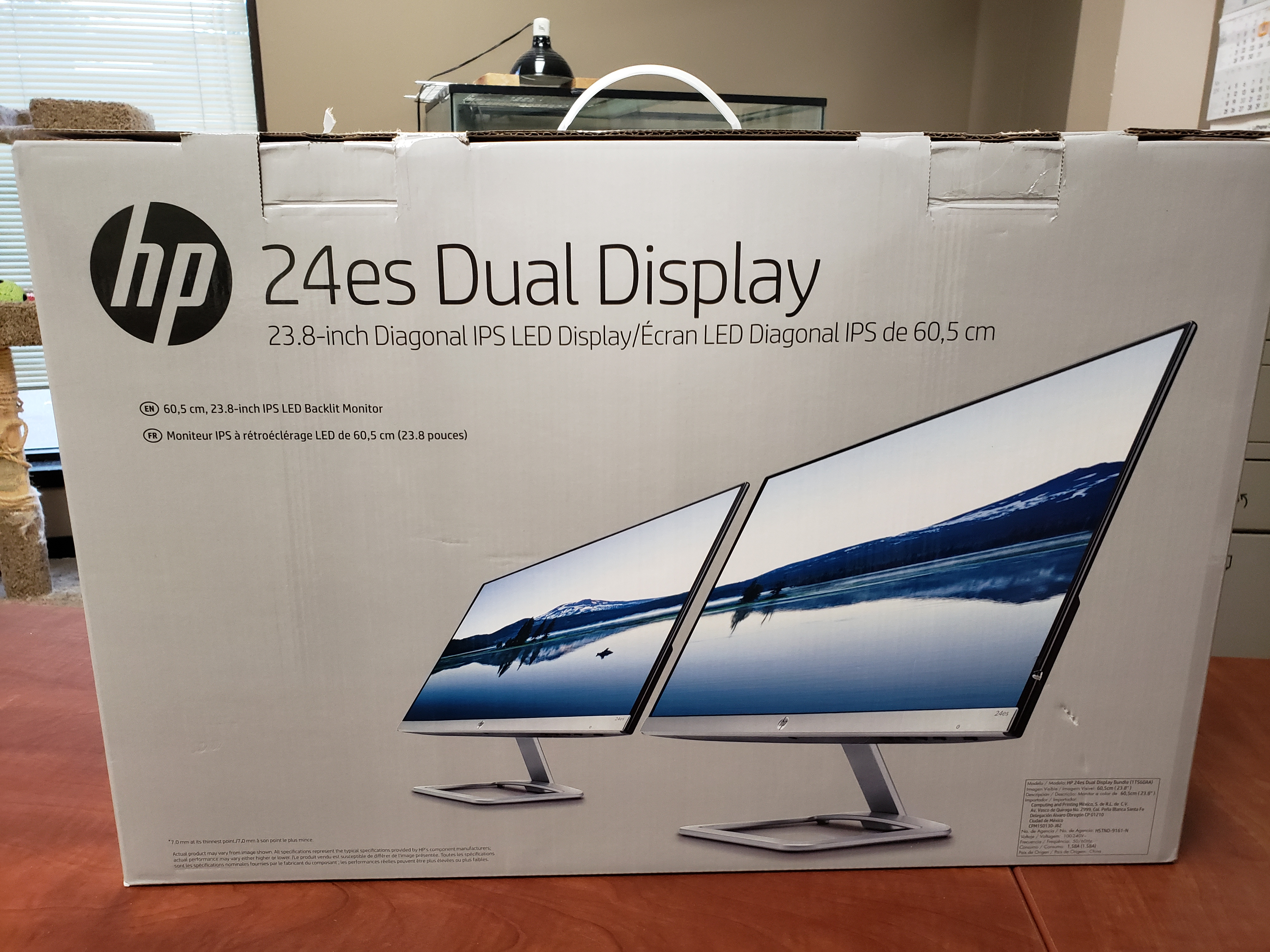 "new 24"" dual LCD monitors"