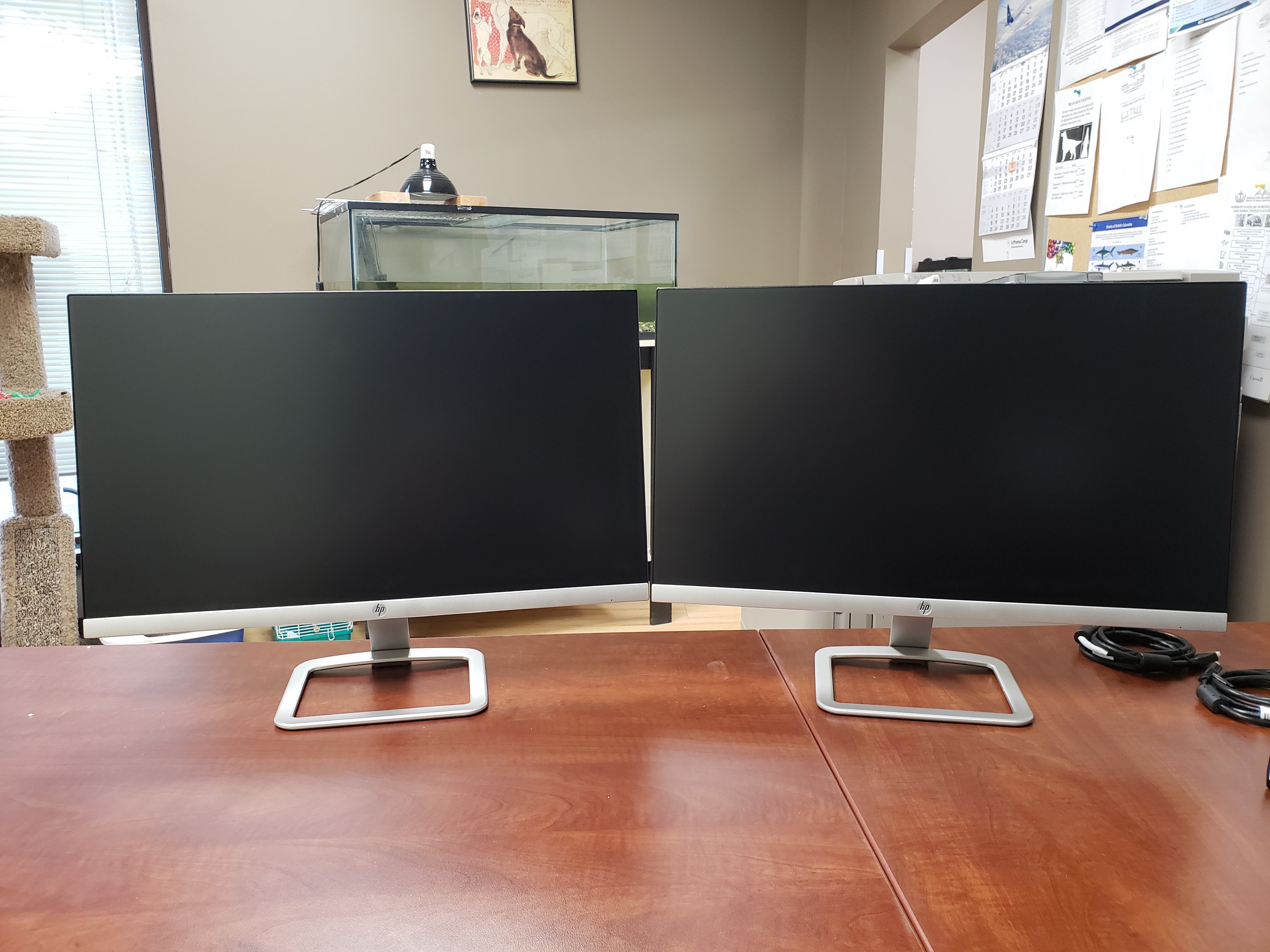 """new 24"""" dual LCD monitors (unboxed)"""