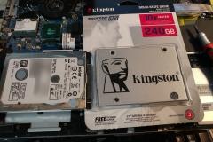 laptop hard drive to SSD swap