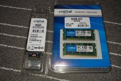 laptop RAM and m.2 internal SSD upgrade