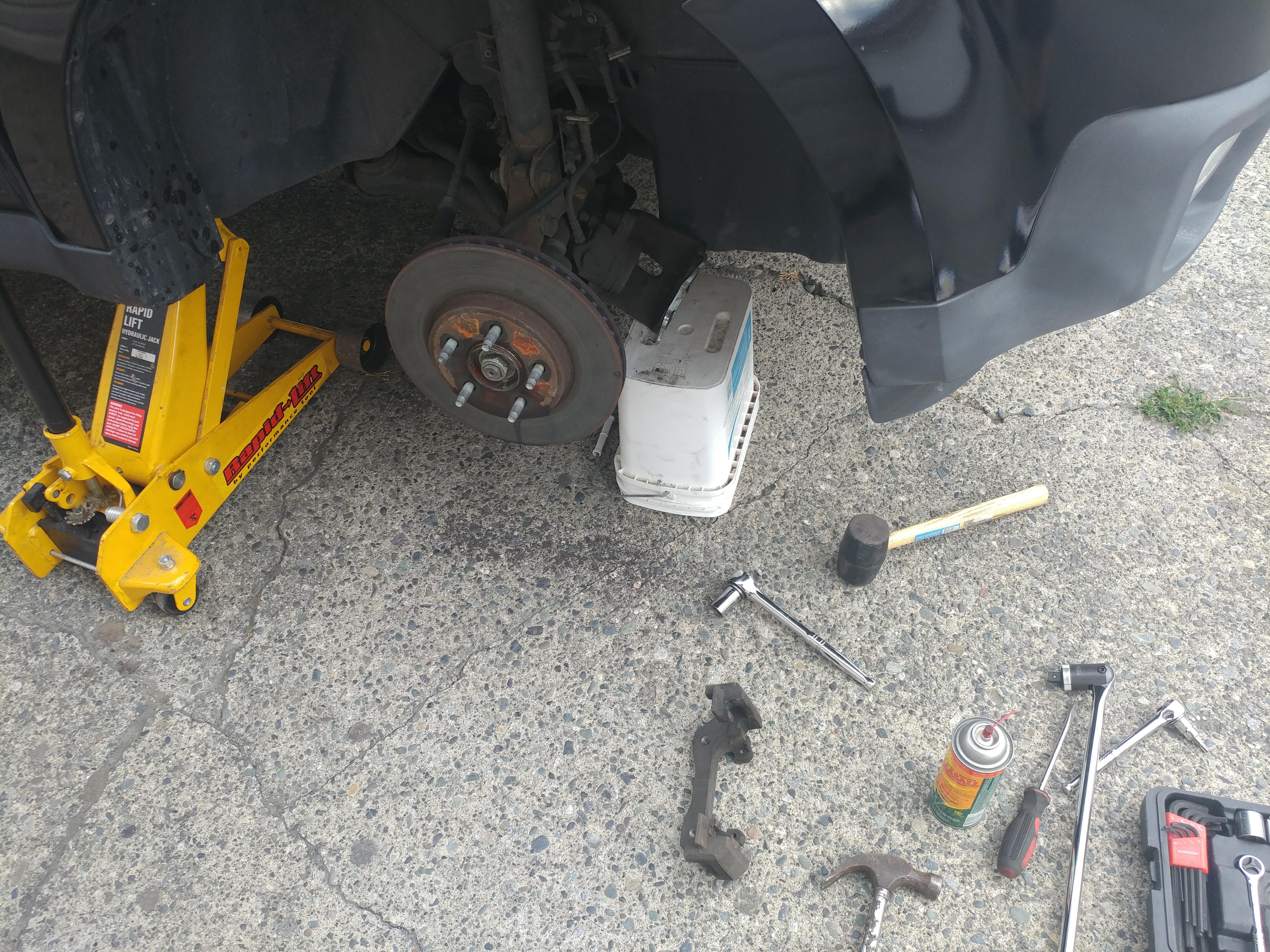 front disc brake repair (angle1)