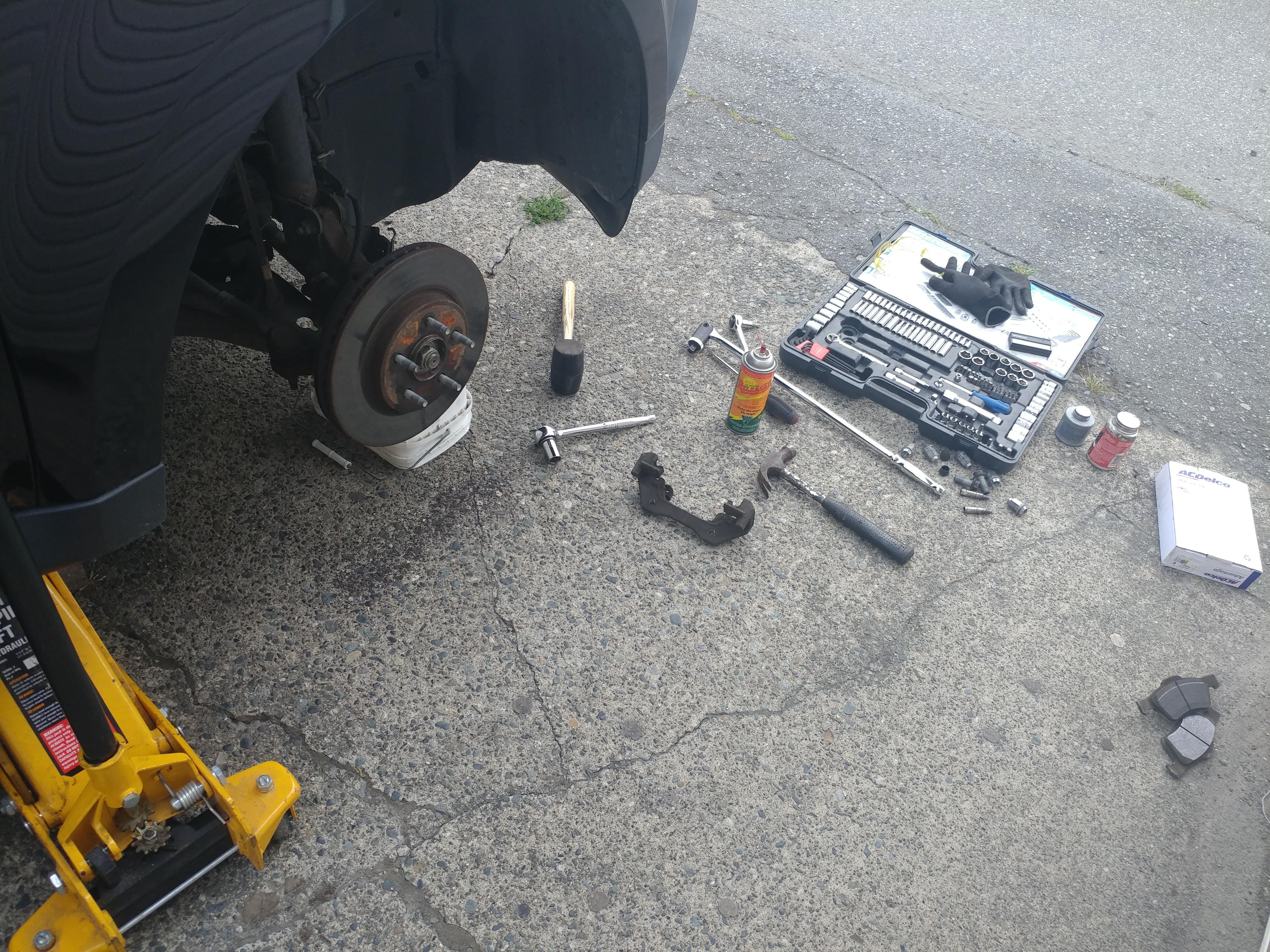 front disc brake repair (angle2)