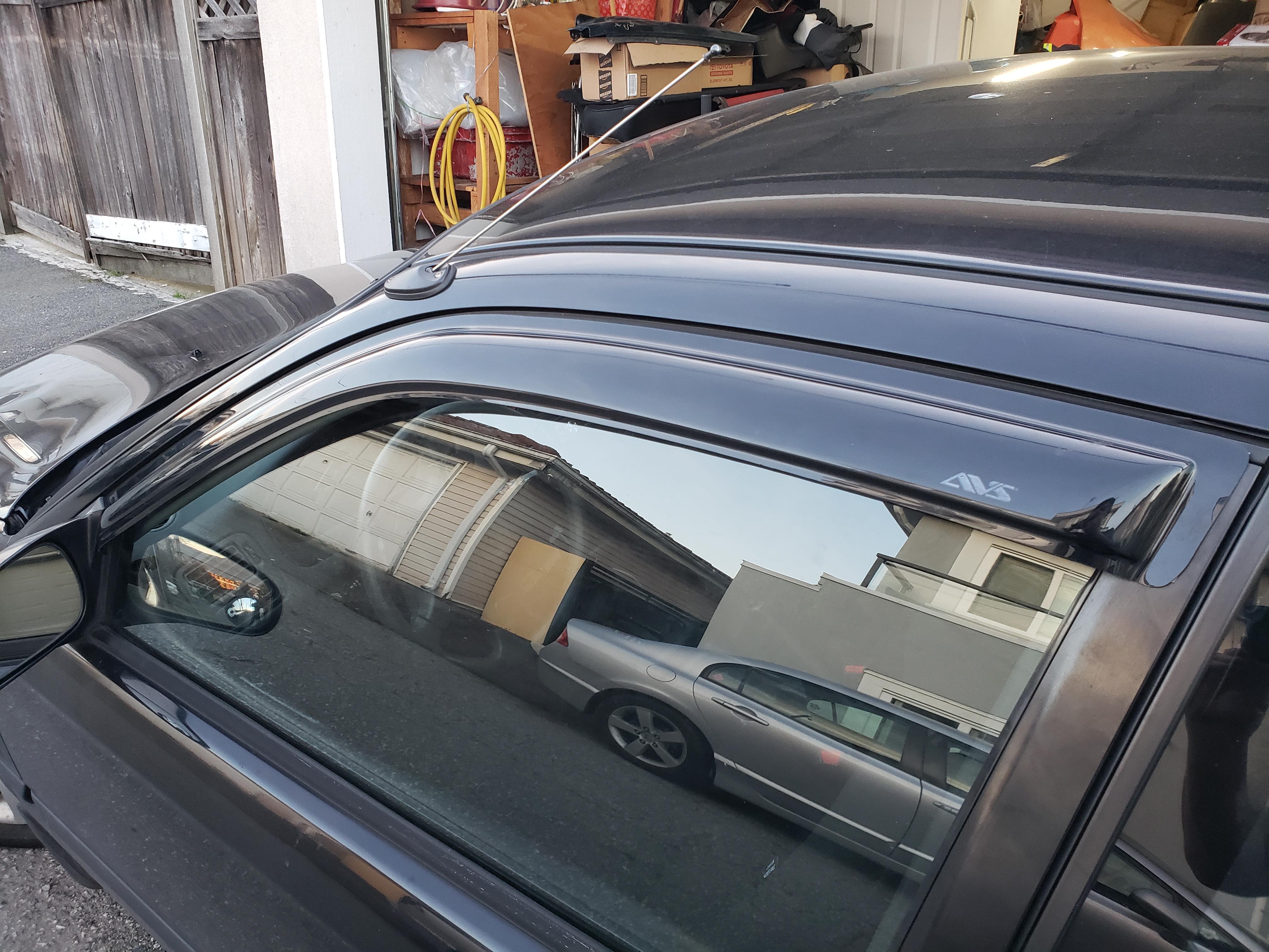(after) window visor installed