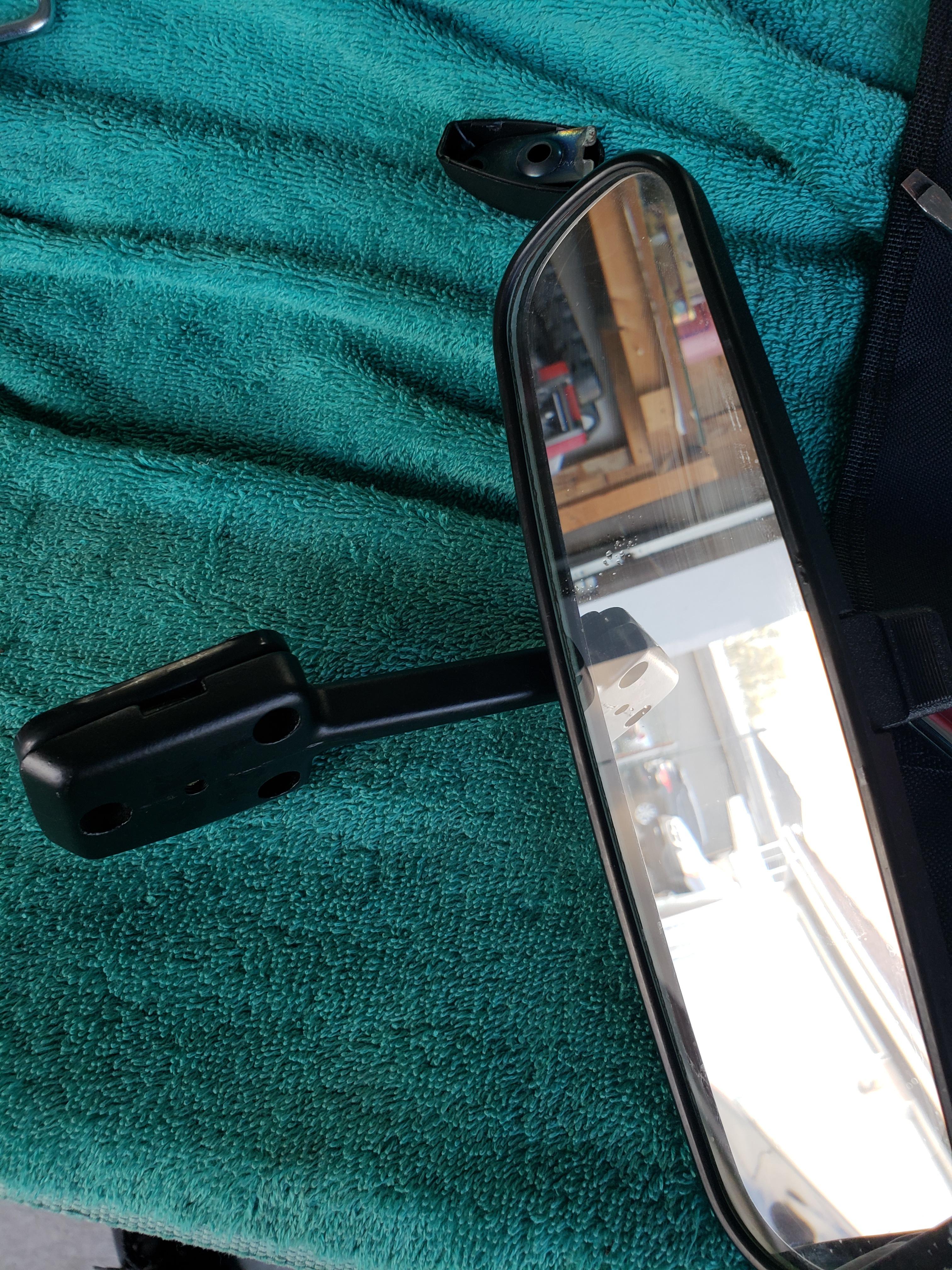 fix loose rear mirror