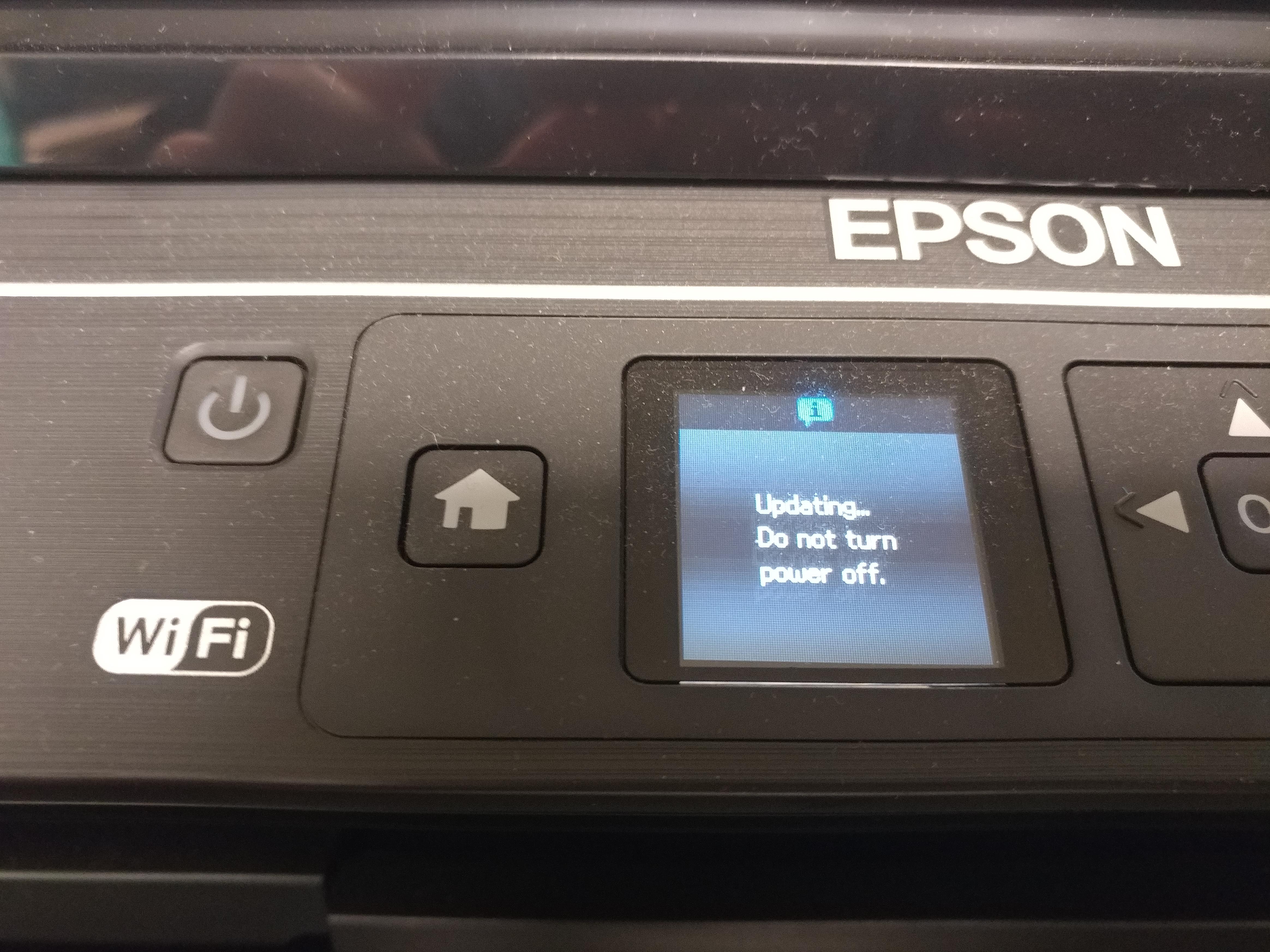 updating Espon printer firmware