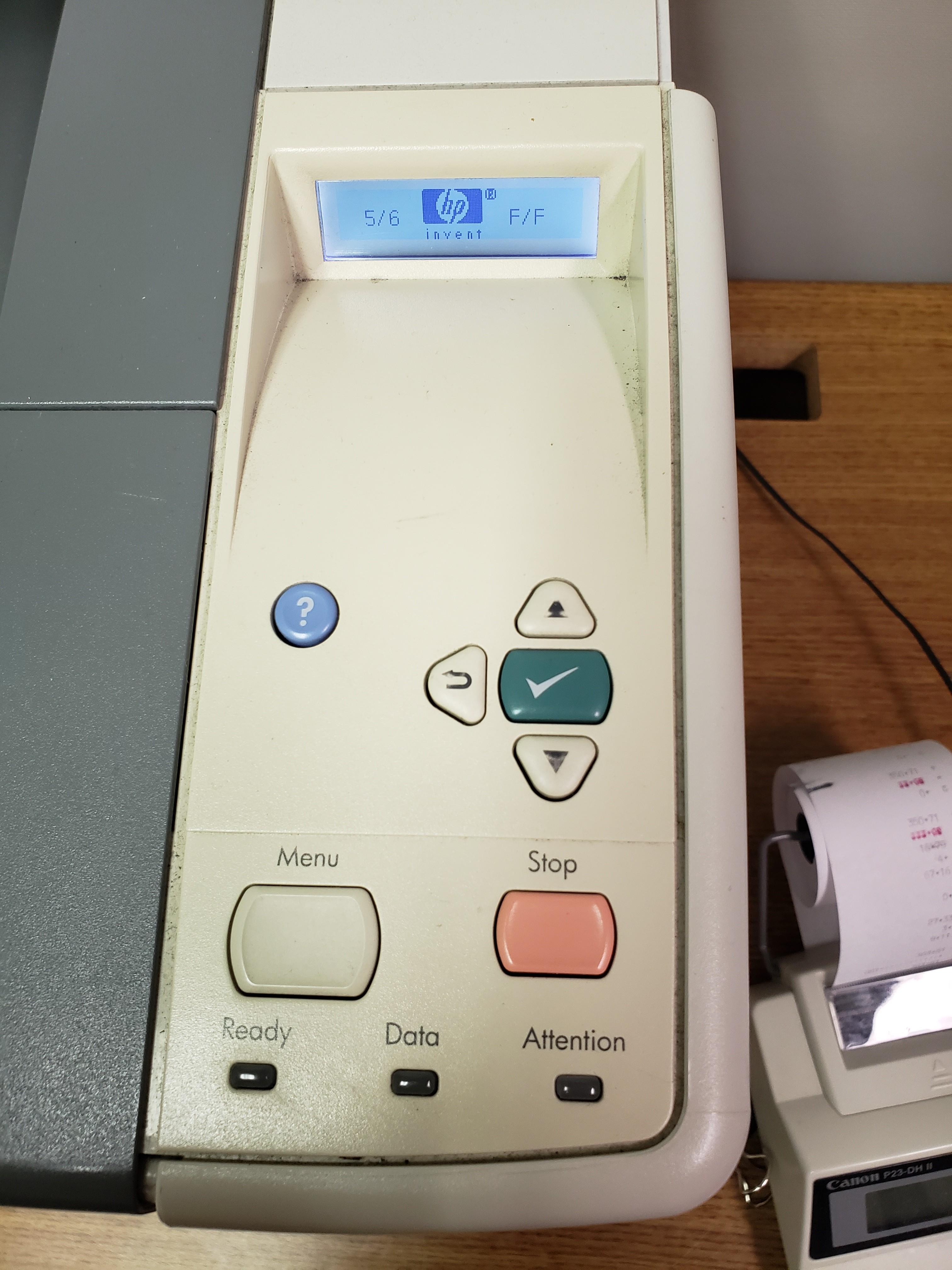 older HP printer startup loading