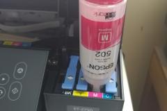 Epson printer setup adding ink