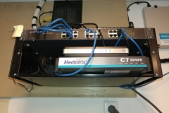Ethernet switch, Internet router, and VOIP gateway setup