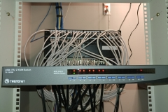 16 port kvm switch, Ethernet switches at the back