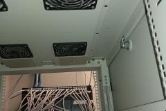 fans in a server rack
