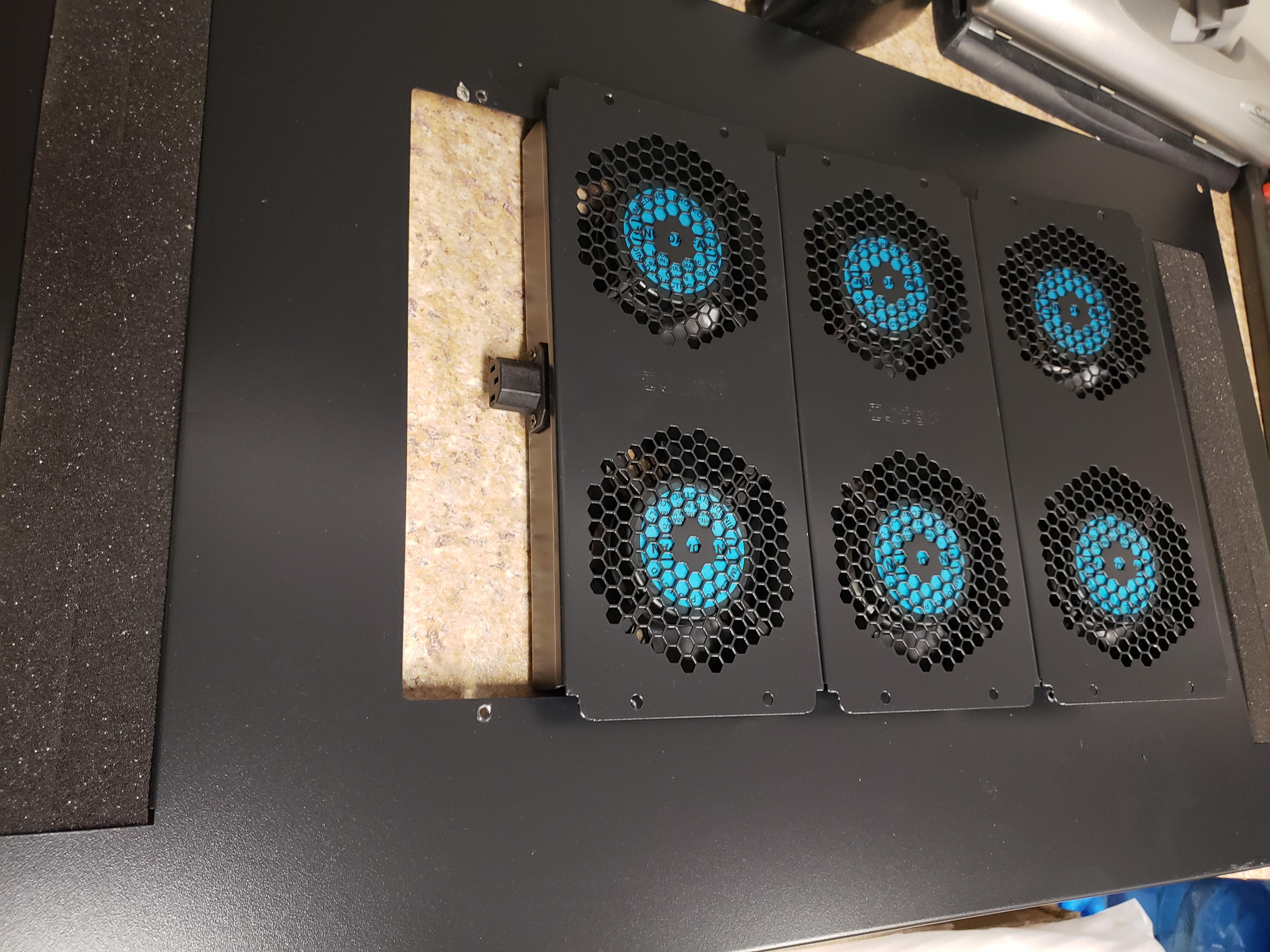 new fans for server rack