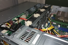 inside of a rack server