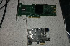 LSI RAID card and USB 3.0 card