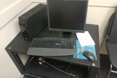 rolling server rack setup