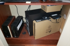 UPS for servers (left) and old server (right)