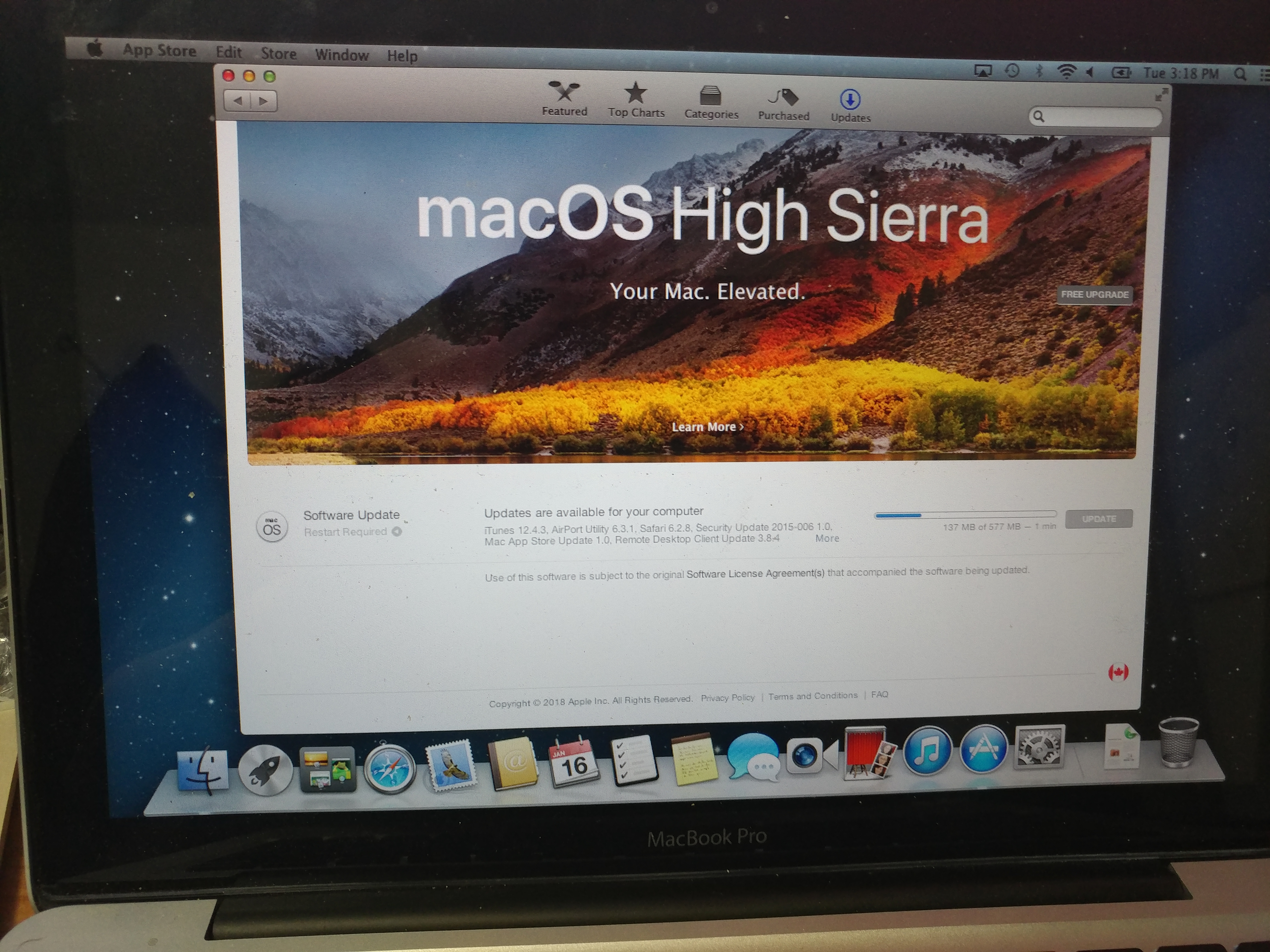 apple mac osx high sierra