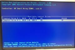 RAID management, 1 failed hard drive